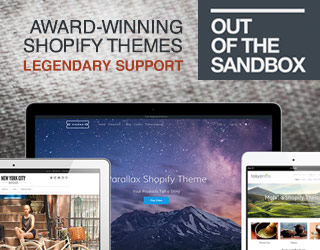 Award-winning Shopify themes from Out of the Sandbox