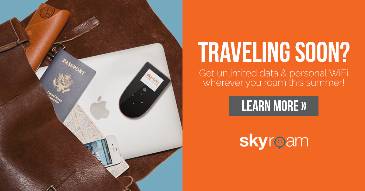 Sky Roam Global Wi-Fi Unlimited Data / 4G LTE + Power Bank