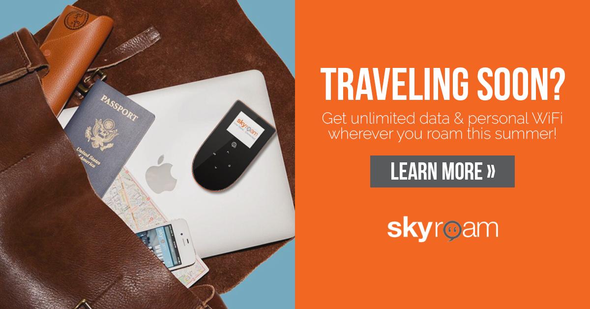Sky Roam Global Wi-Fi Unlimited Data / 4G LTE + Power Bank